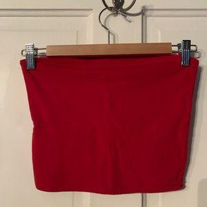 Brandy Melville Tops - Brandy Melville Jenny Red Tube Top